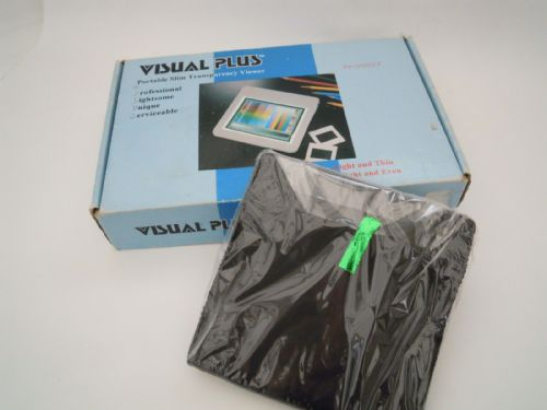 VISUALPLUS PORTABLE SLIM TRANSPARENCY VIEWER VP-6050V AND MAINS ADAPTER